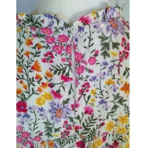 Old Navy Tops - Old Navy Floral Smocked Sleeveless Shirt
